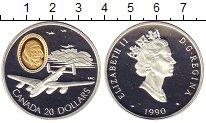 Изображение Монеты Канада 20 долларов 1990 Серебро Proof