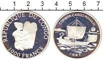 Изображение Монеты Конго 1000 франков 1997 Серебро Proof