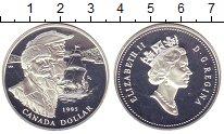 Изображение Монеты Канада 1 доллар 1995 Серебро Proof Елизавета II. Морепл