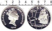 Изображение Монеты Новая Зеландия 5 долларов 1996 Серебро Proof- Елизавета II. Парусн