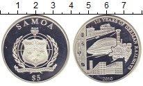 Изображение Монеты Самоа 5 долларов 2010 Серебро Proof- 175 лет железным дор