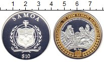 Изображение Монеты Самоа 10 долларов 2009 Серебро Proof