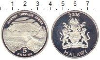 Изображение Монеты Малави 5 квач 2006 Серебро Proof-