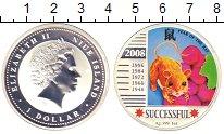 Изображение Монеты Ниуэ 1 доллар 2008 Серебро Proof- Елизавета II. Год кр