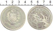 Изображение Монеты Перу 1 соль 2004 Серебро UNC