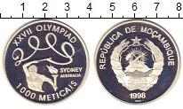 Изображение Монеты Мозамбик 1000 метикаль 1998 Серебро Proof- Олимпиада 2000. Сидн