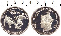 Изображение Монеты Бутан 300 нгултрум 1990 Серебро Proof-
