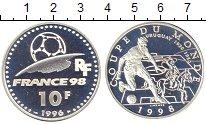 Изображение Монеты Франция 10 франков 1996 Серебро Proof- Чемпионат  мира  по