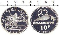 Изображение Монеты Франция 10 франков 1997 Серебро Proof- Чемпионат  мира  по
