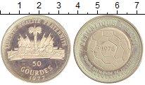 Изображение Монеты Гаити 50 гурдес 1977 Серебро XF Чемпионат  мира  по