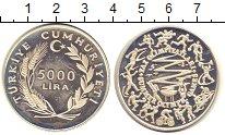 Изображение Монеты Турция 5000 лир 1984 Серебро Proof- Олимпиада 84.