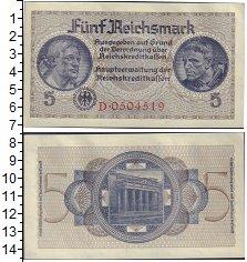 "Изображение Боны Третий Рейх 5 рейхсмарок 1939  XF &nbsp;<span style=""f"