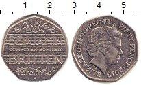 Изображение Мелочь Великобритания 50 пенсов 2013 Медно-никель XF Елизавета II.  100 -