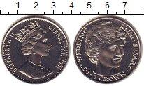 Изображение Монеты Гибралтар 1 крона 1991 Медно-никель XF Елизавета II. 10 - л