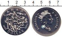 Изображение Монеты Канада 1 доллар 1994 Серебро Proof Елизавета II.  После