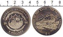 Изображение Монеты Либерия 5 долларов 2000 Медно-никель UNC Восточный  экспресс.