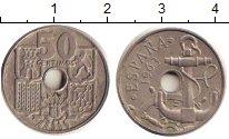 Изображение Барахолка Испания 50 сентимо 1963 Медно-никель XF-