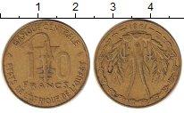 Изображение Дешевые монеты Западно-Африканский Союз 10 франков 1981 Латунь XF