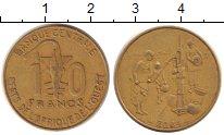 Изображение Барахолка Западно-Африканский Союз 10 франков 2004 Латунь XF