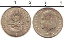 Изображение Барахолка Гаити 5 сантимов 1975 Медно-никель XF