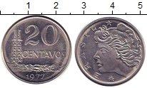 Изображение Дешевые монеты Бразилия 20 сентаво 1977 Сталь XF
