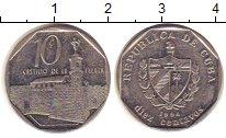 Изображение Барахолка Куба 10 сентаво 1994 Медно-никель XF