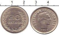 Изображение Барахолка Колумбия 20 сентаво 1971 Медно-никель XF