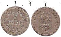 Изображение Дешевые монеты Венесуэла 5 сентим 1965 Медно-никель XF