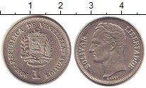 Изображение Дешевые монеты Венесуэла 1 боливар 1986 Медно-никель XF