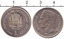 Изображение Дешевые монеты Венесуэла 1 боливар 1989 Медно-никель XF