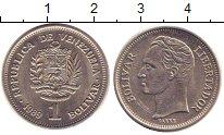 Изображение Дешевые монеты Венесуэла 1 боливар 1989 Медно-никель XF+