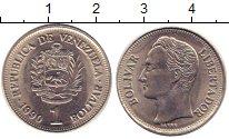 Изображение Дешевые монеты Венесуэла 1 боливар 1990 Медно-никель XF+