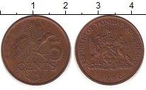 Изображение Барахолка Тринидад и Тобаго 5 центов 1990 Бронза XF