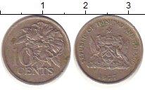 Изображение Барахолка Тринидад и Тобаго 10 центов 1977 Медно-никель XF