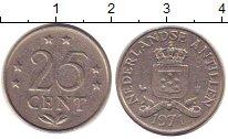 Изображение Барахолка Антильские острова 25 центов 1971 Медно-никель XF-
