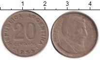 Изображение Барахолка Аргентина 20 сентаво 1955 Медно-никель XF