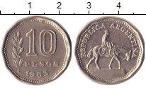 Изображение Барахолка Аргентина 10 песо 1963 Медно-никель XF