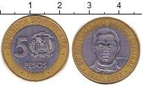 Изображение Дешевые монеты Доминиканская республика 5 песо 1997 Биметалл VF+