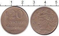 Изображение Барахолка Бразилия 20 сентаво 1967 Медно-никель XF