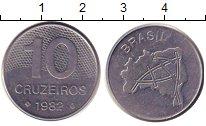 Изображение Барахолка Бразилия 10 крузейро 1982 Сталь XF
