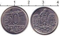 Изображение Дешевые монеты Бразилия 50 сентаво 1989 Сталь XF