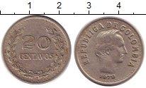 Изображение Барахолка Колумбия 20 сентаво 1972 Медно-никель XF