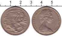 Изображение Барахолка Австралия 20 центов 1966 Медно-никель VF Утконос