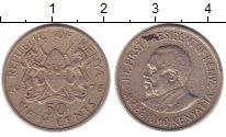 Изображение Дешевые монеты Кения 50 центов 1973 Медно-никель XF