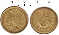 Изображение Барахолка Египет 2 пиастра 1980 Латунь XF+