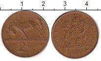 Изображение Дешевые монеты ЮАР 2 цента 1984 Бронза XF