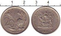 Изображение Дешевые монеты ЮАР 20 центов 1971 Медно-никель XF-