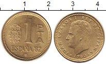 Изображение Дешевые монеты Испания 1 песета 1980 Латунь XF+