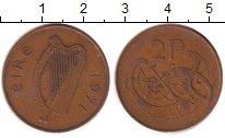 Изображение Дешевые монеты Ирландия 2 пенса 1971 Бронза XF