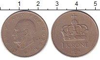 Изображение Барахолка Норвегия 1 крона 1976 Медно-никель XF-